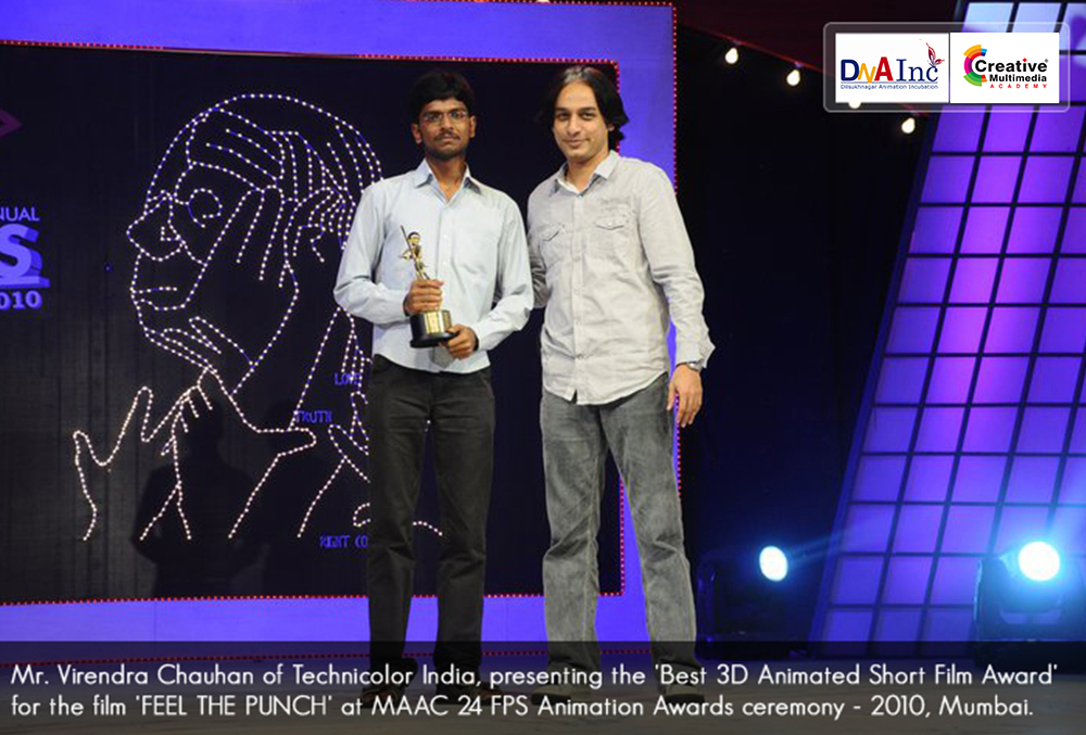 Best 3D Animated Short Film Award at MAAC's Annual 24 FPS Animation Awards of Mumbai